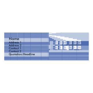 Pieza del teclado - flaca tarjetas de negocios