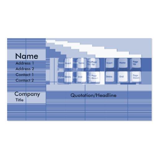 Pieza del teclado - negocio tarjetas personales