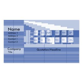 Pieza del teclado - negocio tarjetas de visita