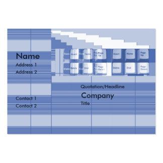 Pieza del teclado - rechoncha tarjetas de visita grandes