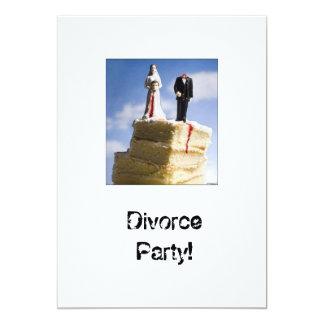 Pieza Invatations del divorcio Invitación 12,7 X 17,8 Cm