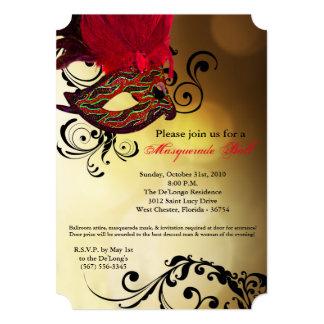Pieza roja de Halloween del traje de la máscara de Invitación 12,7 X 17,8 Cm