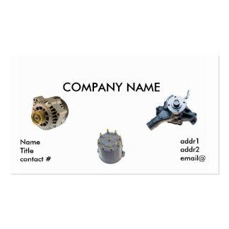 piezas automotrices tarjetas de visita