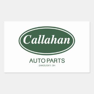 Piezas de automóvil de Callahan Pegatinas