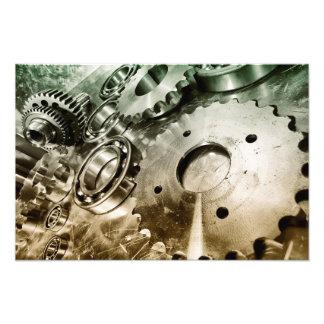 piezas, titanio y acero de la ingeniería aeroespac arte fotográfico