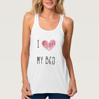 Pijama de las camisetas sin mangas de los amantes