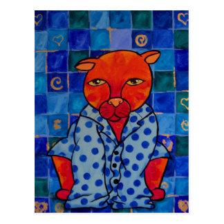 Pijamas de los gatos postal