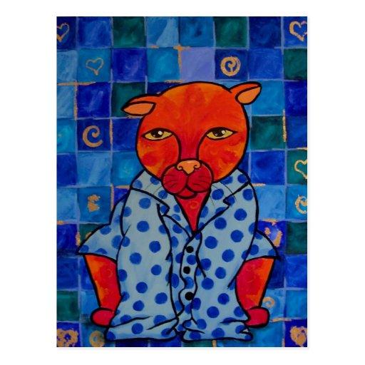 Pijamas de los gatos postales