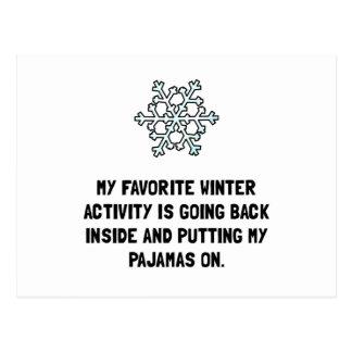 Pijamas del invierno postal