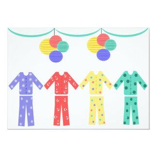 Pijamas en un fiesta de pijama de la fila invitación 12,7 x 17,8 cm