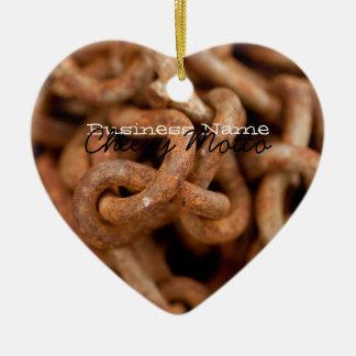 Pila de cadenas oxidadas; Promocional Adorno De Cerámica En Forma De Corazón
