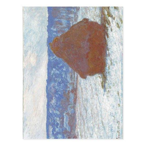 Pila de Claude Monet de trigo (efecto de la nieve, Postales