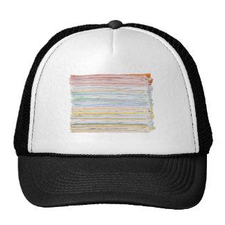 Pila de papel gorros bordados