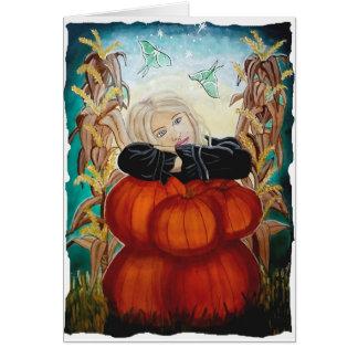 Pila de Punkin - Halloween, calabazas, bruja en Tarjeta De Felicitación