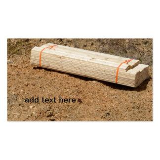 pila de tablones de madera plantilla de tarjeta de negocio
