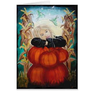 """Pila"" - Halloween, calabazas, bruja, magia de Tarjeta De Felicitación"