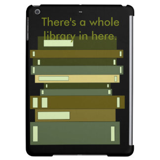 Pila negra verde oliva de biblioteca Geeky de los