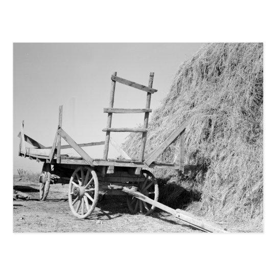 Pila y carro - 1939. del heno postal