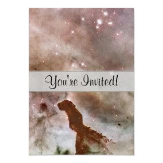 Pilar del polvo de la nebulosa de Carina Invitación 12,7 X 17,8 Cm