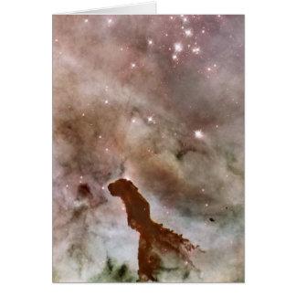 Pilar del polvo de la nebulosa de Carina Tarjeta Pequeña