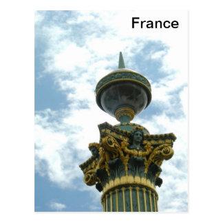 Pilar detallado del vintage de Europa Francia Postal