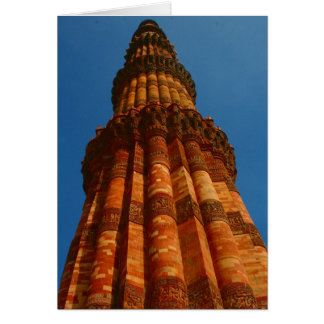pilar minar del qutb tarjeta de felicitación