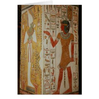 Pilar que representa Osiris y llevar del sacerdote Tarjeta De Felicitación