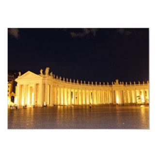 Pilares cuadrados de St Peters por la tarde Invitación 12,7 X 17,8 Cm