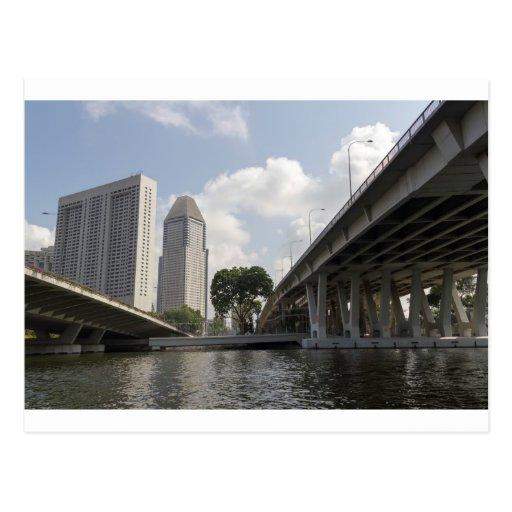 Pilares de la ayuda del puente de Benjamin Sheares Tarjetas Postales