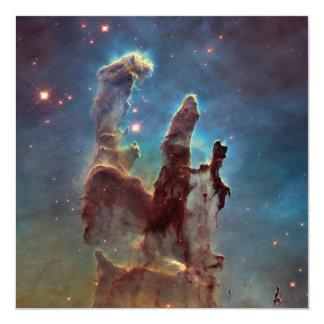 Pilares de la creación invitación 13,3 cm x 13,3cm