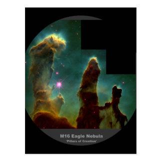 Pilares de la nebulosa de M16 Eagle 'de Creation Tarjetas Postales