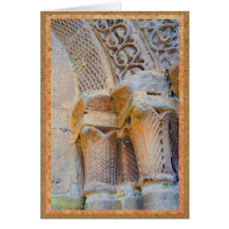 Pilares de piedra de la catedral en Sigüenza, Tarjeta De Felicitación