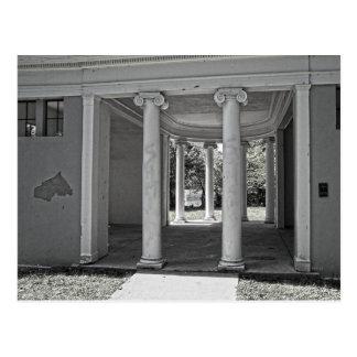 Pilares del Parthenon del vintage Postal