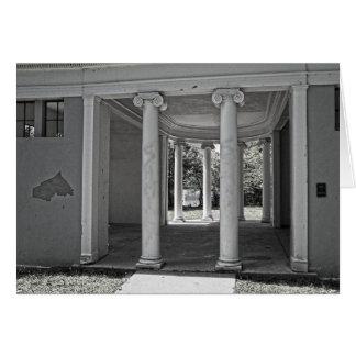 Pilares del Parthenon del vintage Tarjeta De Felicitación
