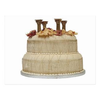 Pilares del pastel de bodas postal