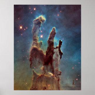 Pilares del poster de la impresión de la creación