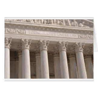 Pilares del Tribunal Supremo de Estados Unidos Tarjeta De Felicitación