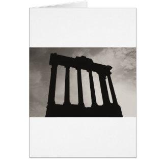 pilares romanos tarjeta de felicitación