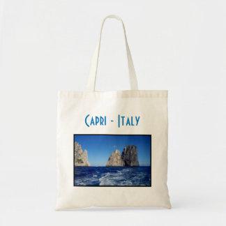 Pilas de Faraglioni, isla de Capri - Nápoles - Bolso De Tela