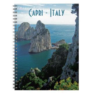 Pilas de Faraglioni, isla de Capri - Nápoles - Cuaderno