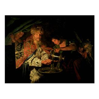 Pilate que se lava las manos (aceite en lona) postal