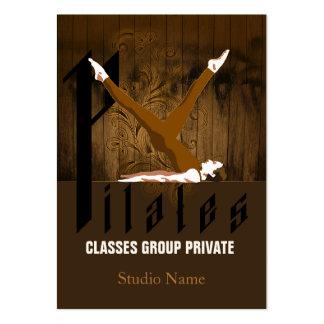 Pilates II - Negocio, tarjeta del horario Tarjeta De Visita