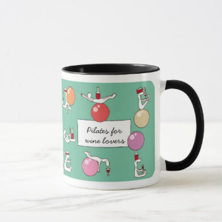 Pilates para la taza de Winelovers, verde