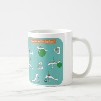 pilates para los bebedores del café taza de café