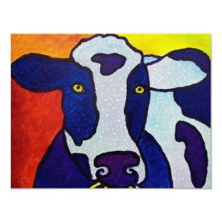 Piliero de la vaca wow invitación 10,8 x 13,9 cm