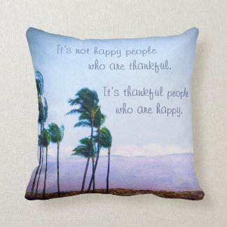 "Pillow_small ""agradecido"" de la foto de la cita de cojín decorativo"