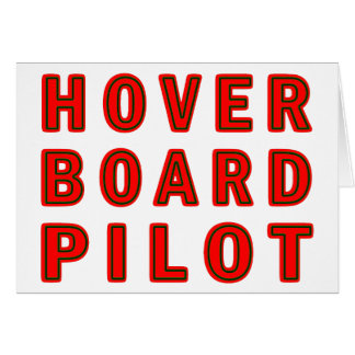 Piloto de Hoverboard Tarjeta De Felicitación