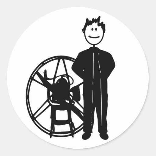 Piloto de Paramotor Pegatinas Redondas