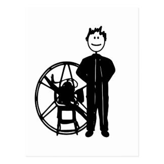 Piloto de Paramotor Postales