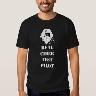 Piloto de prueba real de la sidra camiseta
